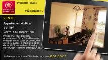 A vendre - appartement - NOISY LE GRAND (93160) - 4 pièces - 83m²