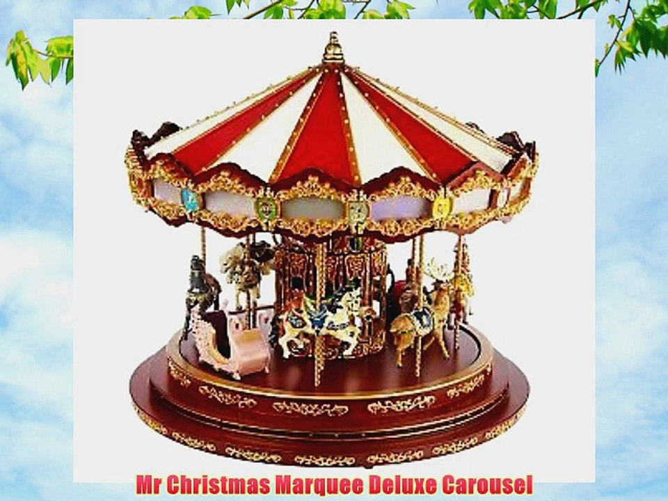 Mr Christmas Carousel.Mr Christmas Marquee Deluxe Carousel