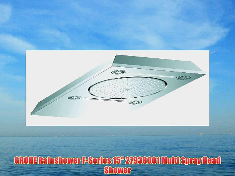 GROHE Rainshower F-Series 15 27938001 Multi Spray Head Shower
