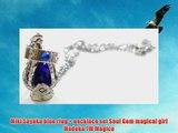 Miki Sayaka blue ring   necklace set Soul Gem magical girl Madoka TM Magica
