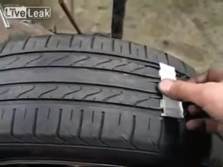 How scammers make dangerously worn out tyres look new!