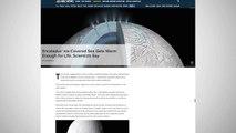 Warm Water Spots Found On Saturn's Icy Moon Enceladus