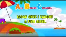 12345 Once I Caught A Fish Alive! - English Nursery Rhymes - All Babies Channel