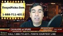 San Antonio Spurs vs. Cleveland Cavaliers Free Pick Prediction NBA Pro Basketball Odds Preview 3-12-2015