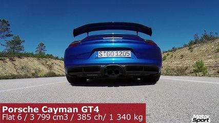 0 à 240 km/h en Porsche Cayman GT4 !