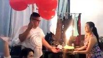 Ballons remplis à l'hélium et bougies...