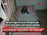 Mersin Devlet hastanesinin çocuk servisinde izdiham bir odada 15-20 hasta yatıyor