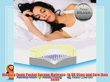 Prima 1000 Pocket Sprung Memory Foam Mattress Plus FREE Quilted Coolmax? Cover- Ikea Euro Sizes