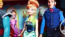 Frozen Fever Anna's Birthday Party P2 Queen Elsa Sick Olaf Kristoff Hans Barbie Parody Toy Video