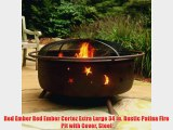 Red Ember Red Ember Cortez Extra Large 34 in. Rustic Patina Fire Pit with Cover Steel