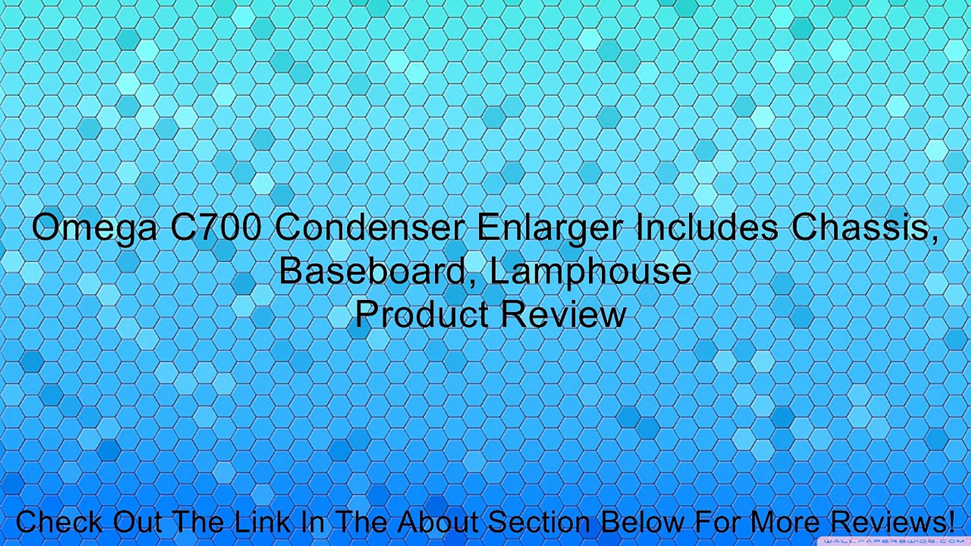 Omega C700 Condenser Enlarger Includes Chassis, Baseboard, Lamphouse Review