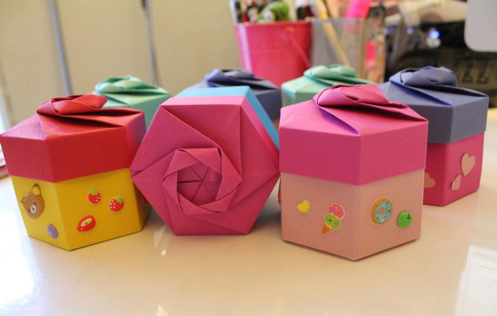 Origami Box with Lid - Page 1 - Paper Kawaii | 1080x1699