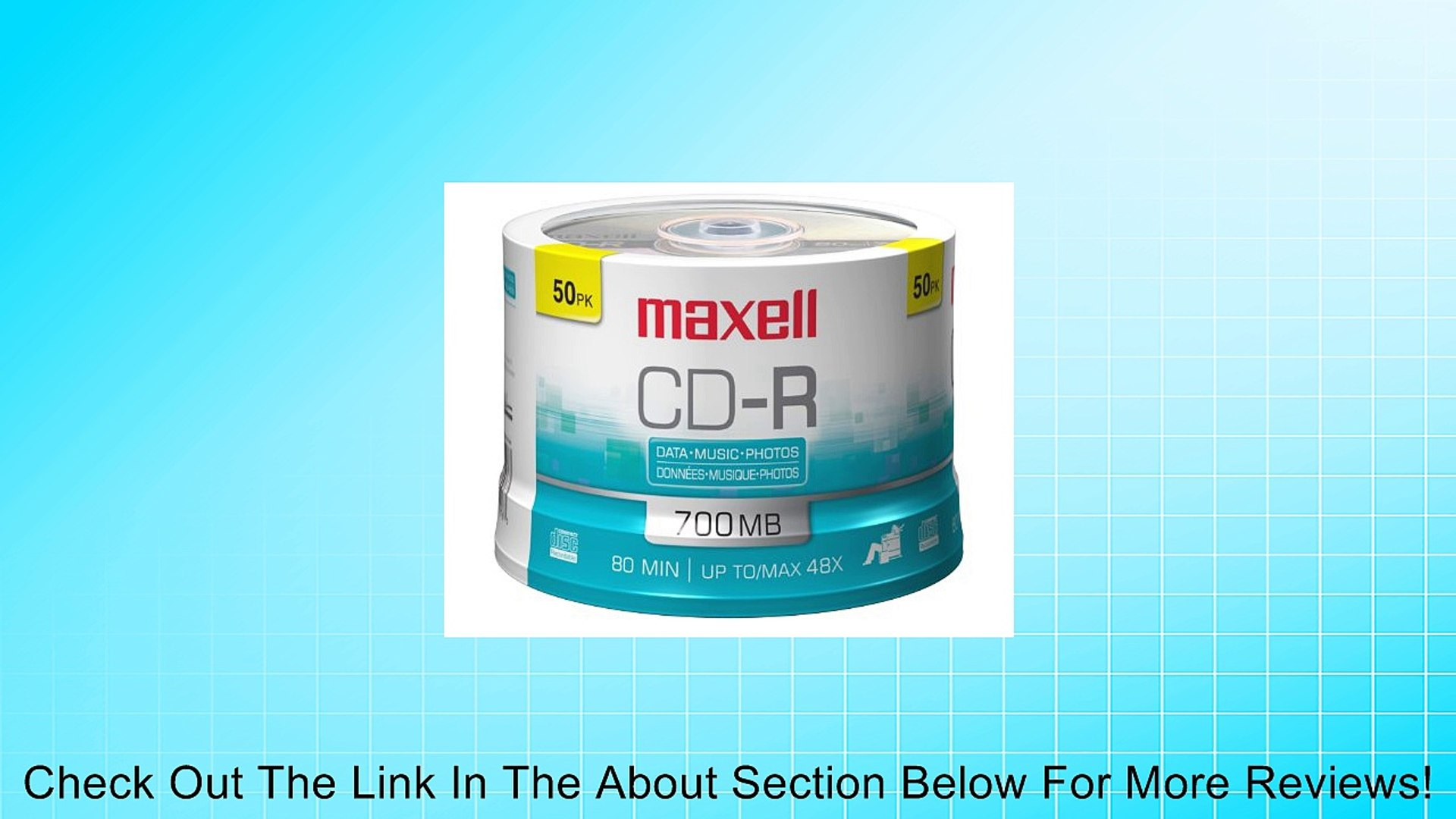 Audio only Maxell CD-R CD-R Discs Music Spindle 50-pack Blank Media 625156