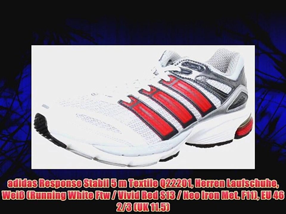 adidas Response Stabil 5 m Textile Q22201 Herren Laufschuhe Wei? (Running White Ftw Vivid