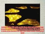 150FT BRILLIANT AMBER 3 WIRE CHASING LED ROPE LIGHT KIT. CHRISTMAS LIGHTING. OUTDOOR ROPE LIGHTING