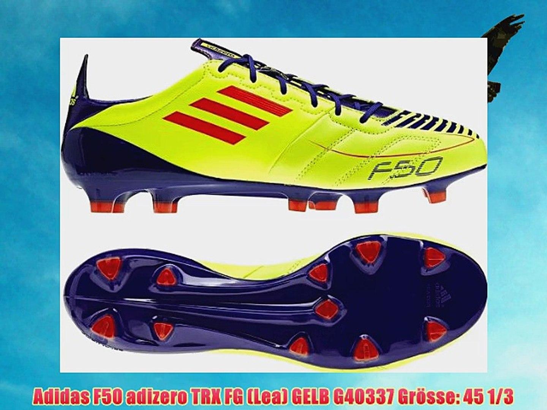 exquisite design footwear online store Adidas F50 adizero TRX FG (Lea) GELB G40337 Gr?sse: 45 1/3