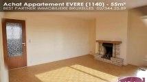 A vendre - Appartement - EVERE (1140) - 55m²