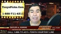 Kansas Jayhawks vs. Baylor Bears Free Pick Prediction Big 12 Tournament NCAA College Basketball Odds Preview 3-13-2015