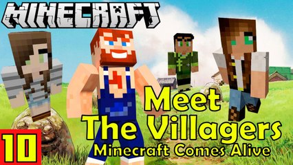 Minecraft Comes Alive Villagers with Nik Nikam's EPIC Minecraft Modded Survival Ep 10