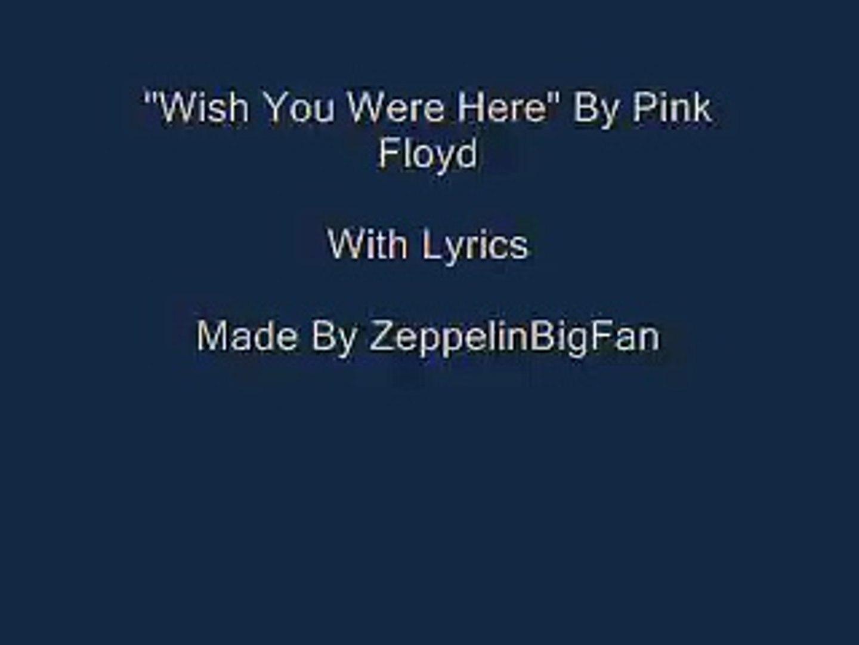 Pink Floyd-Wish You Were Here (Lyrics)