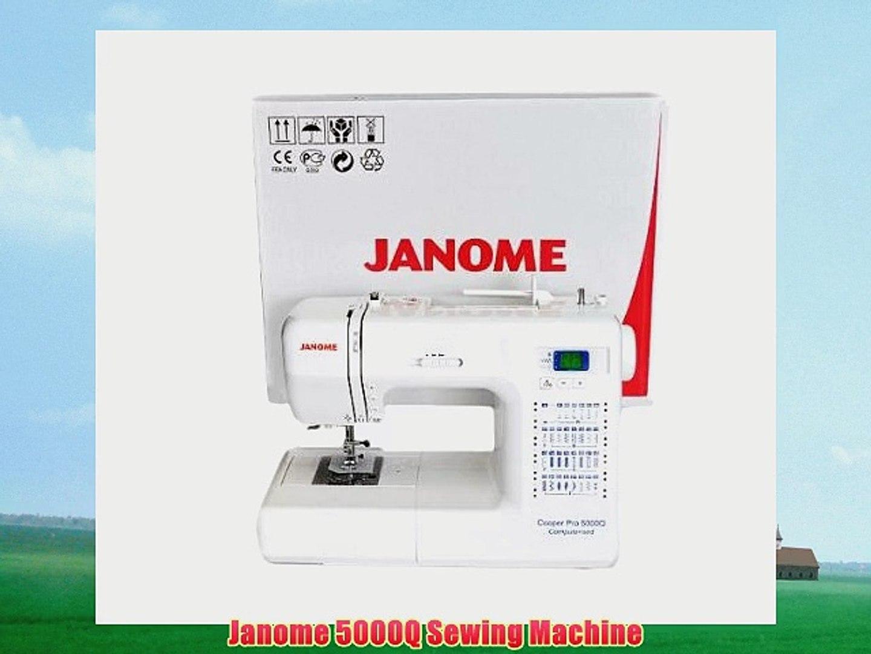 Janome 5000q Sewing Machine Video Dailymotion