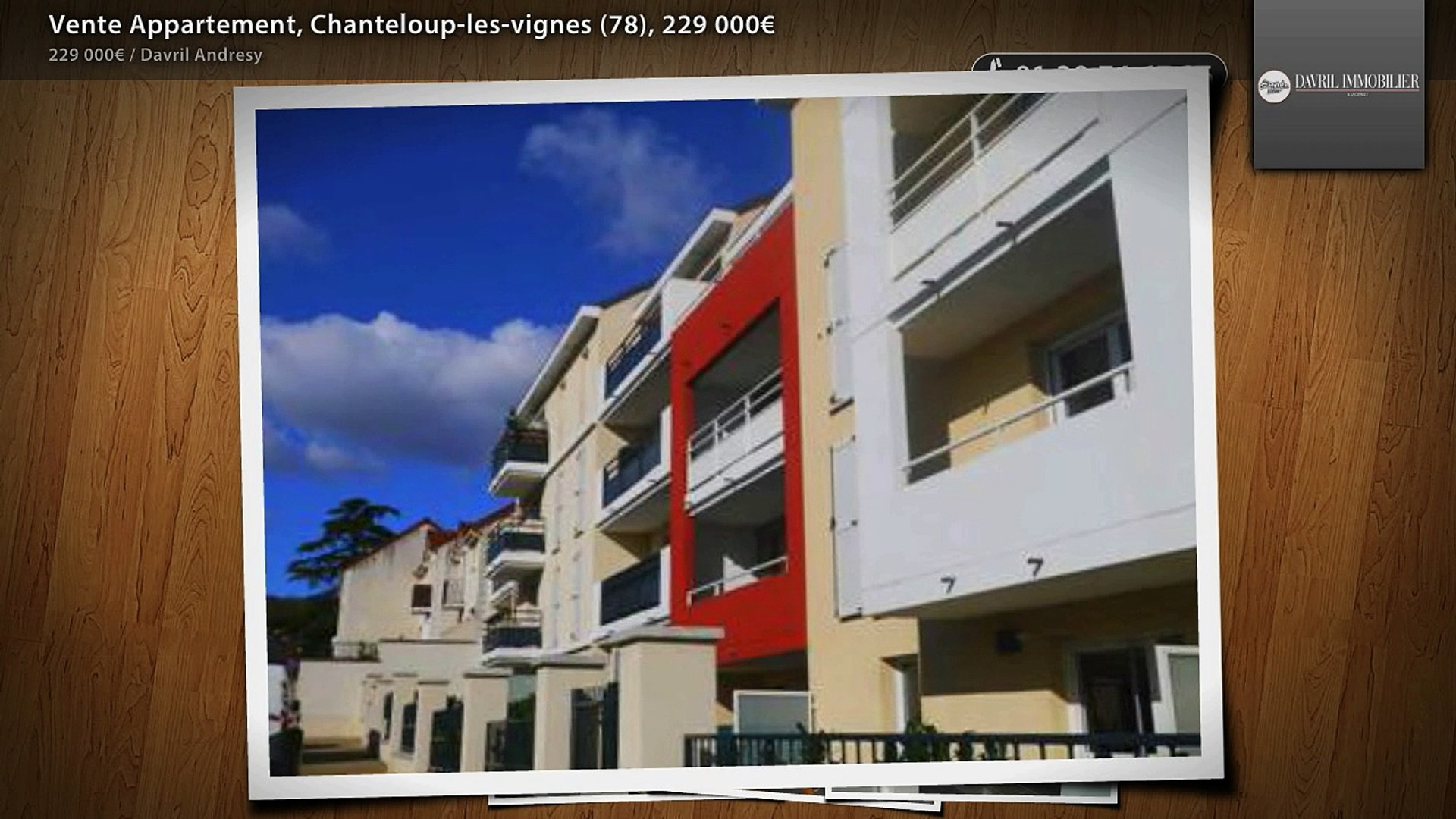 Vente Appartement, Chanteloup-les-vignes (78), 229 000€