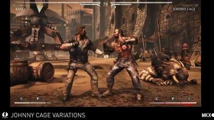 Mortal Kombat X - Johnny Cage Variations Gameplay de Mortal Kombat X