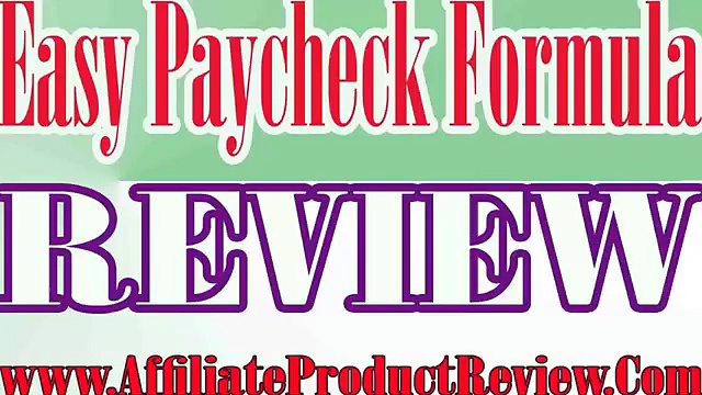 Easy Paycheck Formula Review-Easy Paycheck Formula Reviews-Easy Paycheck Formula