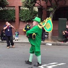 Back pipe at Saint Patty's day San Francisco