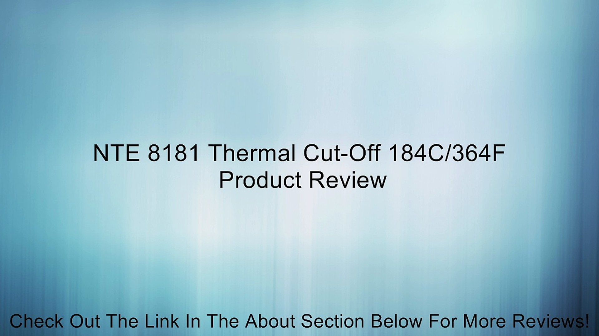 NTE8118 Thermal Cut-Off TCO