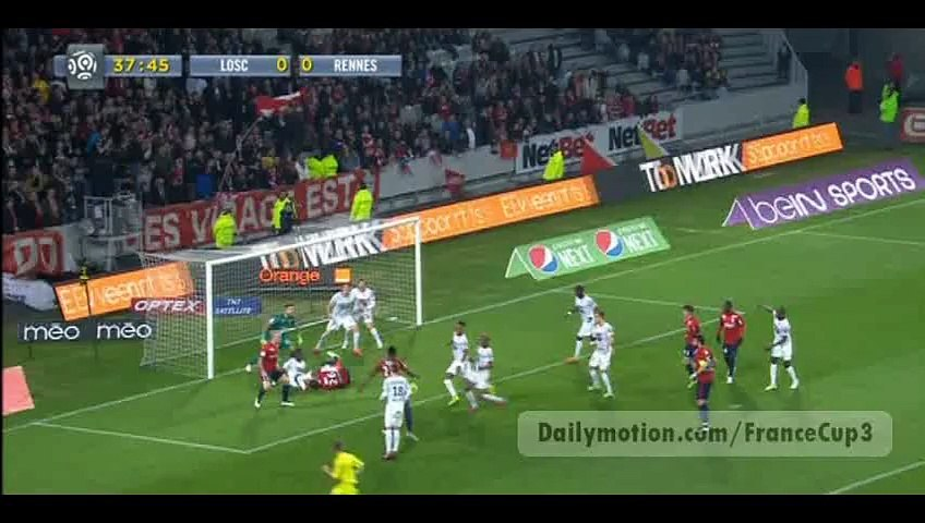 All Goals - Lille 3-0 Rennes - 15-03-2015