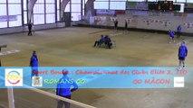 Premier tour, tir progressif, Romans contre Mâcon, Club Elite 2 J10, Sport Boules, saison 2014 / 2015