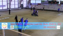 Premier tour, tir rapide en double, Romans contre Mâcon, Club Elite 2 J10, Sport Boules, saison 2014 / 2015