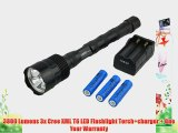 3800 Lumens 3x Cree XML T6 LED Flashlight Torch charger   One Year Warranty