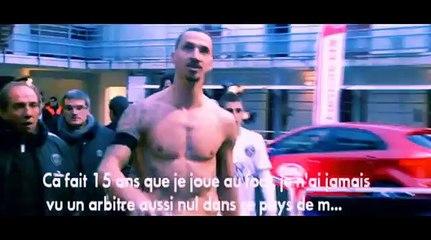 Zlatan Ibrahimovic maudissant France