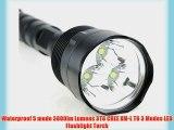 Waterproof 5 mode 3800lm Lumens 3T6 CREE XM-L T6 3 Modes LED Flashlight Torch