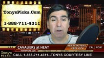 Miami Heat vs. Cleveland Cavaliers Free Pick Prediction NBA Pro Basketball Odds Preview 3-16-2015