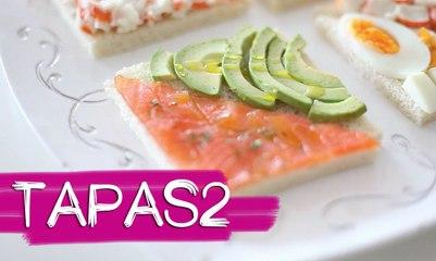 TAPAS 2: Rollitos de jamón york y queso, sandwiches de salmón y aguacate y mucho más B A LA MODA