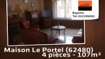 A vendre - Le Portel (62480) - 4 pièces - 107m²