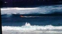 Sauvetage sur la plage de Bronté près de Sydney
