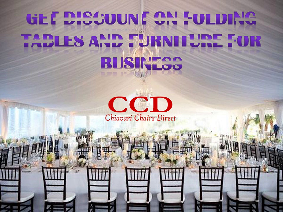 Get Discount on Folding Tables and Furniture for Business