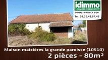 A vendre - maizières la grande paroisse (10510) - 2 pièces - 80m²