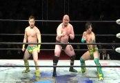 Daisuke Sekimoto, Kazuki Hashimoto & Hideyoshi Kamitani vs. Yuji Okabayashi, Tsutomu Osugi & Hercules Senga (BJW)