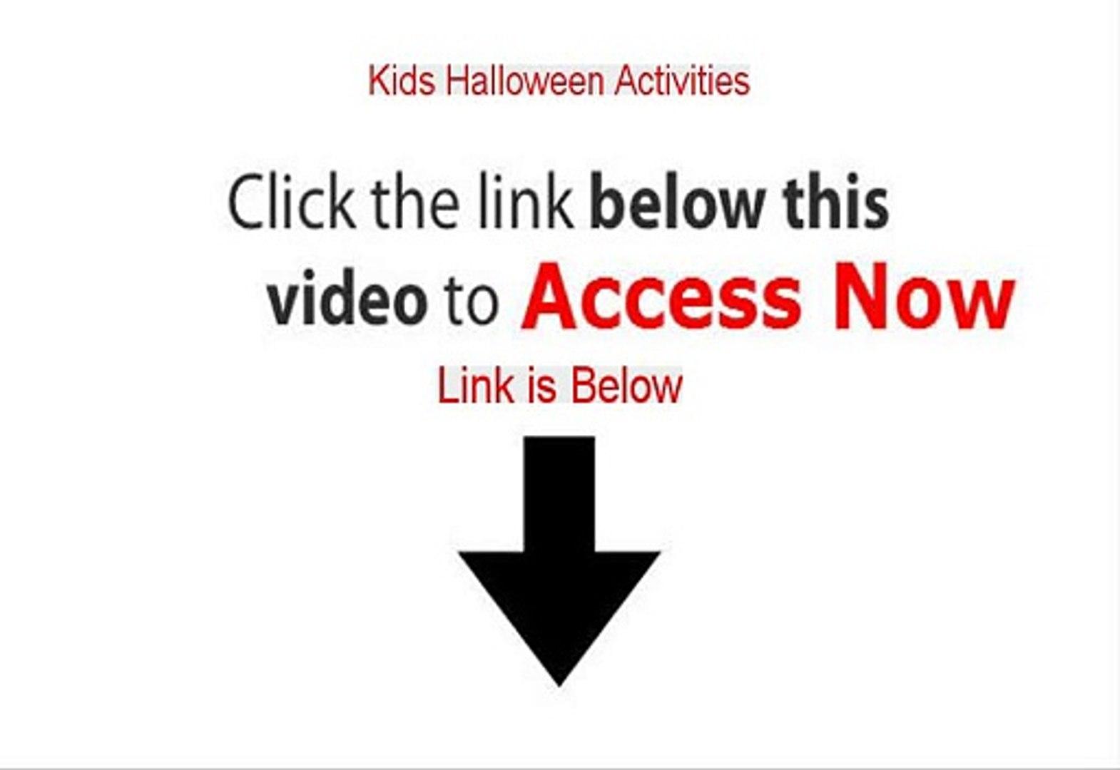 Kids Halloween Activities PDF Free - Instant Download 2015