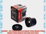 Opteka HD? 0.20X Professional Super AF Fisheye Lens for Sony CyberShot DSC-H10 H5 H3 H2 H1