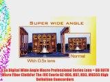 0.5x Digital Wide Angle Macro Professional Series Lens   DB ROTH Micro Fiber ClothFor The JVC