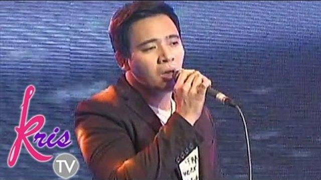 """Erik Santos sings """"How Can I"""" on Kris TV"""