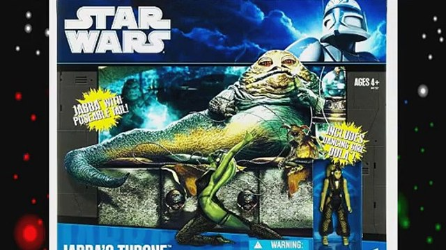 Star Wars Clone Wars Exclusive Deluxe Figure Battle Pack Jabbas Throne with Oola