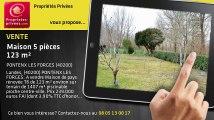 A vendre - maison - PONTENX LES FORGES (40200) - 5 pièces - 123m²