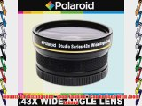 Polaroid Studio Series .43x High Definition Wide Angle Lens With Macro Attachment Includes